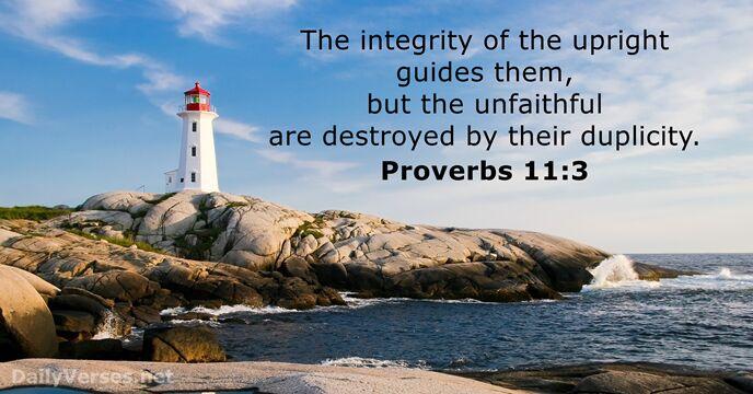 Proverbs 11:3