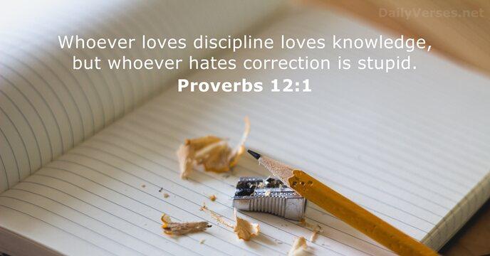 Proverbs 12:1