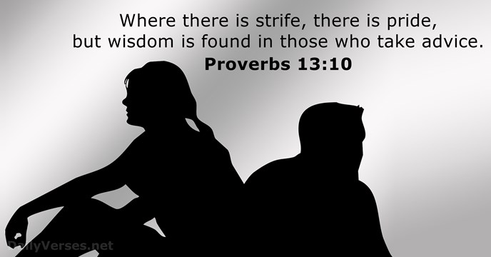Image result for Proverbs 13:10