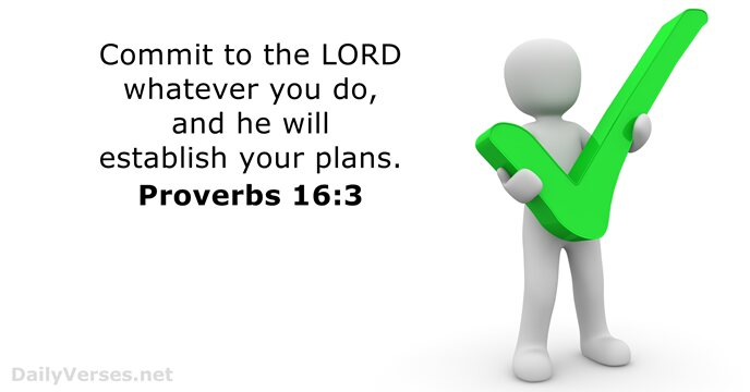 Beau 16 Bible Verses About Planning. « Proverbs 16:3 »