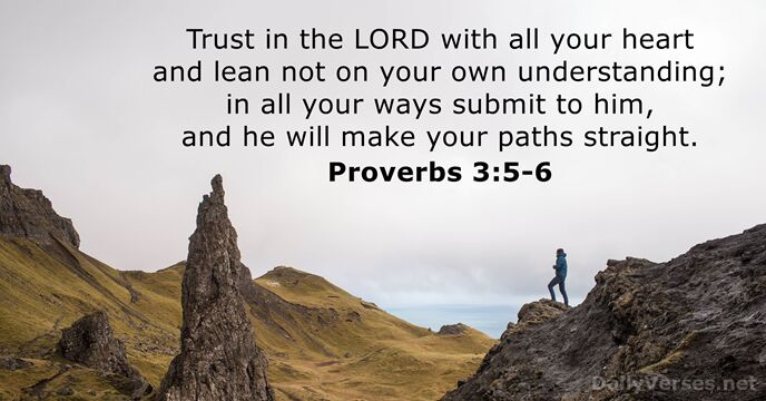 Image result for proverbs 3:5-6