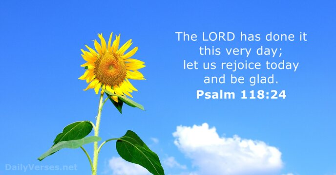 Psalm 118 24 Bible Verse Of The Day Dailyverses Net