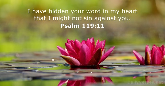 Image result for Psalm 119:11