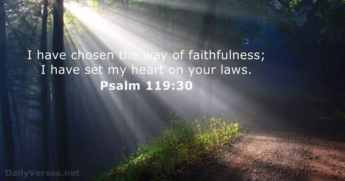 Psalms 119:30