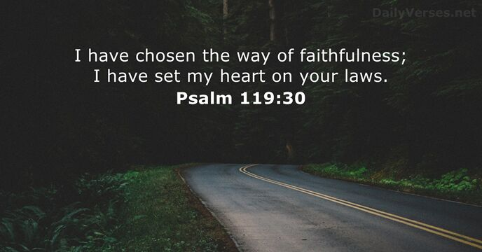 Image result for psalm 119:30