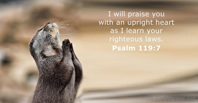 Psalms 119:7