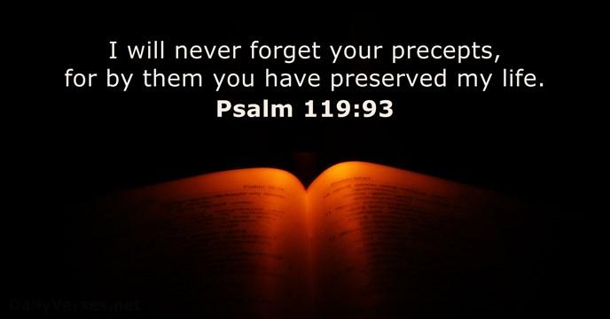 Psalms 119:93
