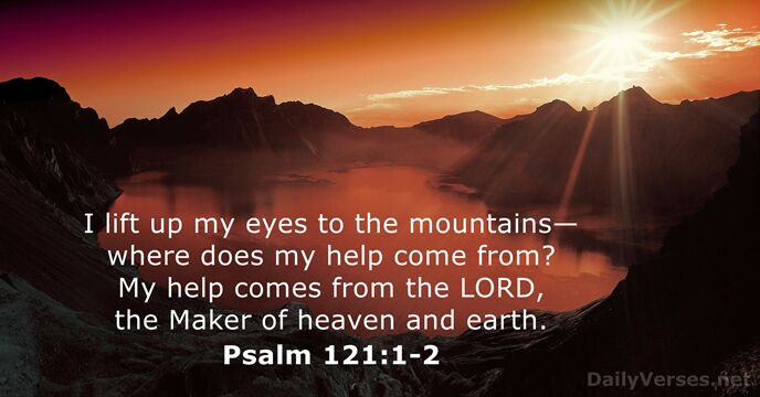 psalm 121:1-2 kjv images