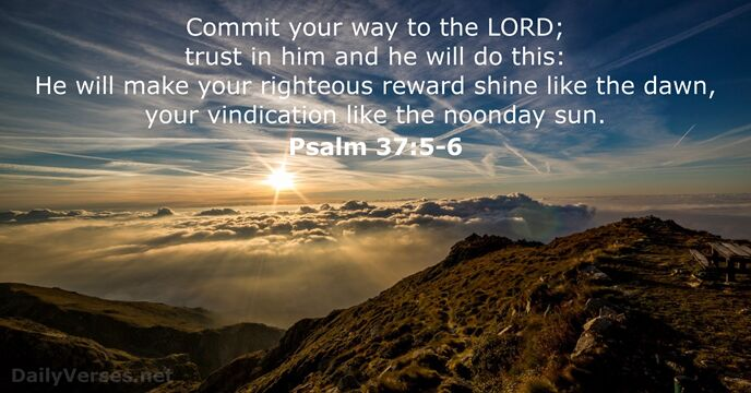 Image result for Psalm 37:5