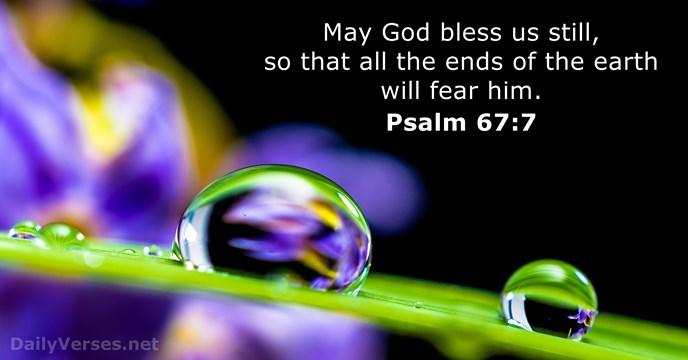 Psalms 67:7