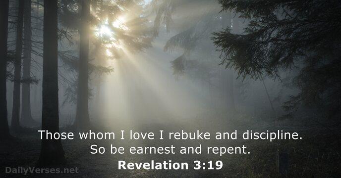 Revelation 3:19