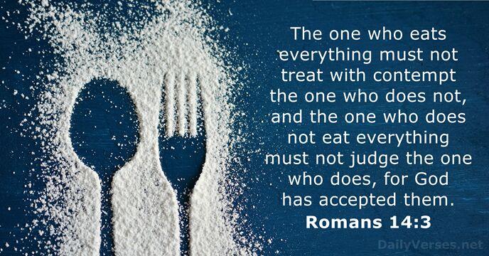 Romans 14:3