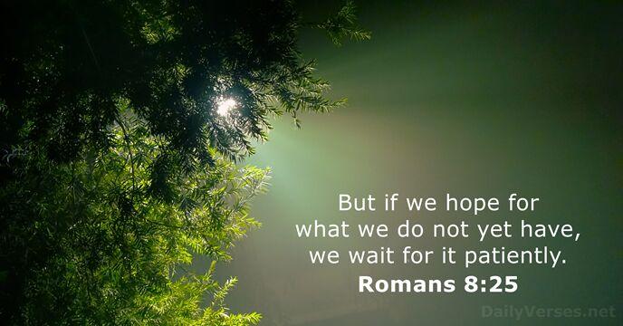 Romans 8:25
