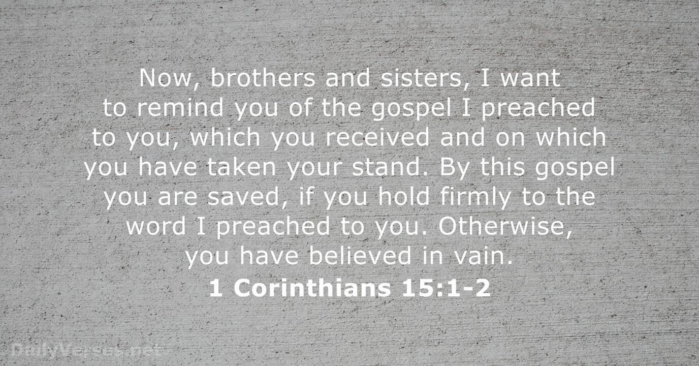 1 Corinthians 15 - DailyVerses.net
