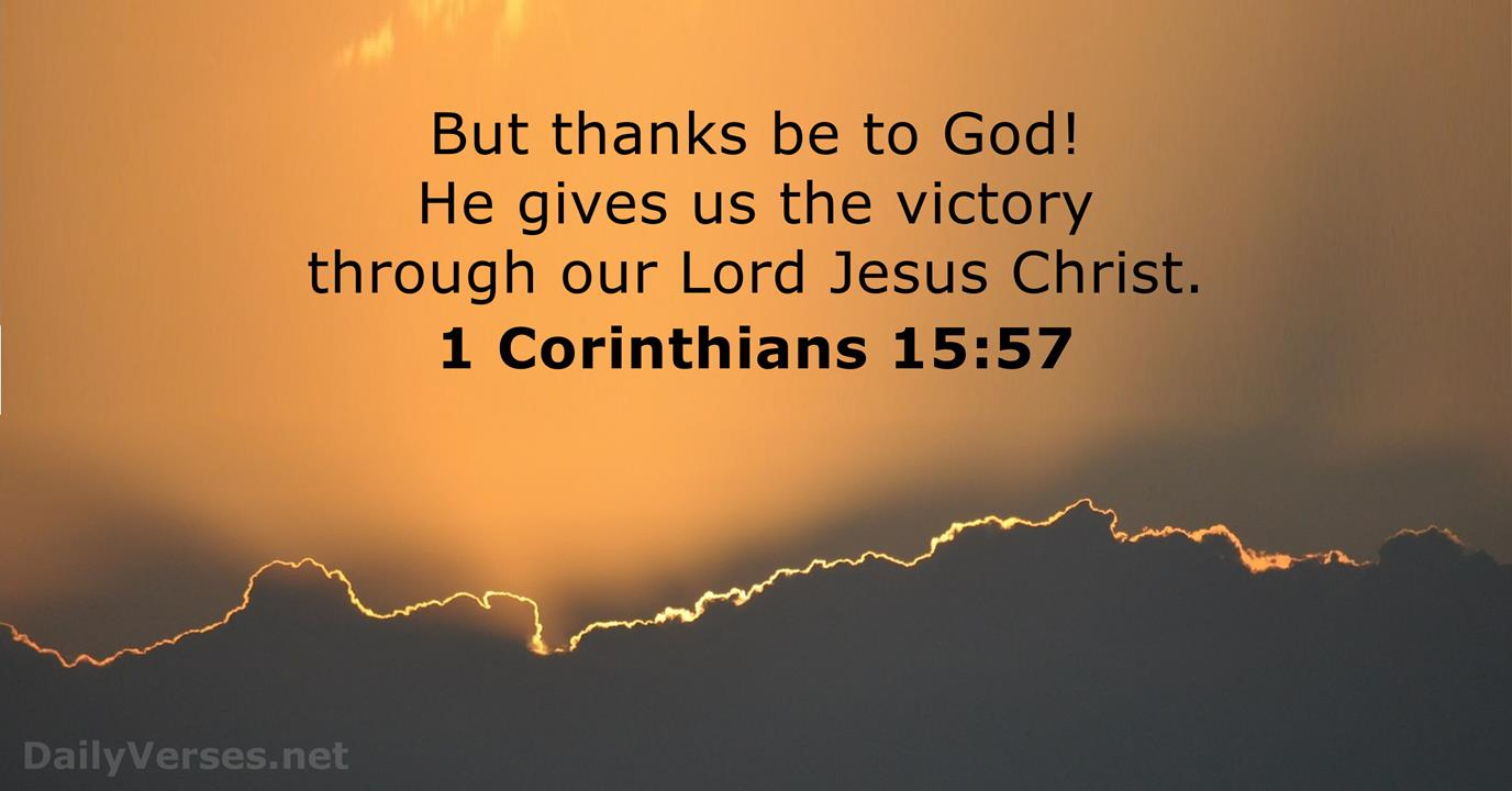 1 Corinthians 15:57 - Bible verse of the day - DailyVerses.net