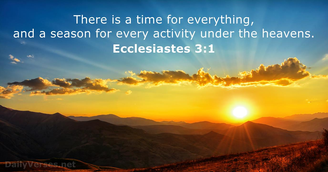 Ecclesiastes 3:1 - Bible verse of the day - DailyVerses.net
