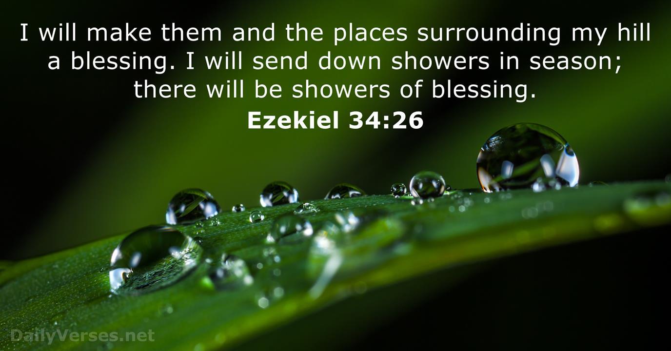 Ezekiel 34:26 - Bible verse - DailyVerses.net