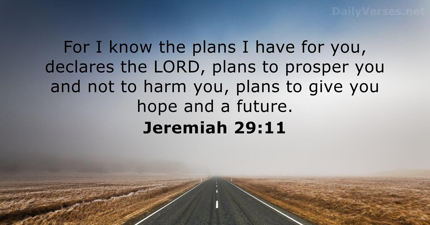 Jeremiah 29:11 - Bible verse - DailyVerses.net