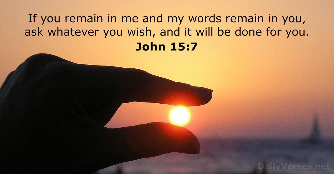 John 15:7 - Bible verse of the day - DailyVerses.net