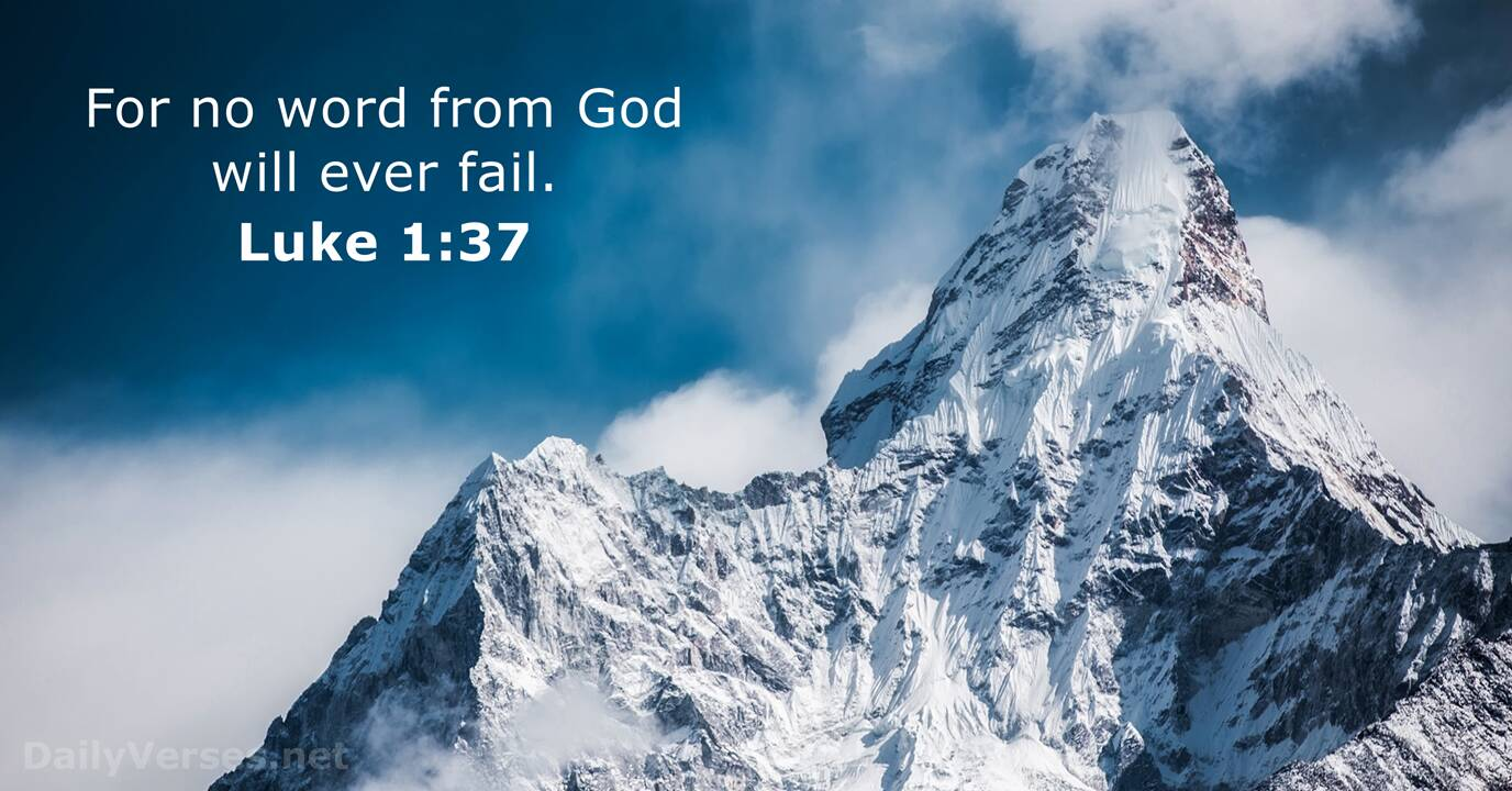 Luke 1:37 - Bible verse of the day - DailyVerses.net