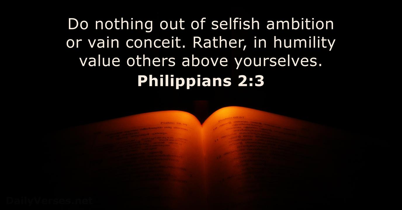 Philippians 2:3 - Bible verse of the day - DailyVerses.net