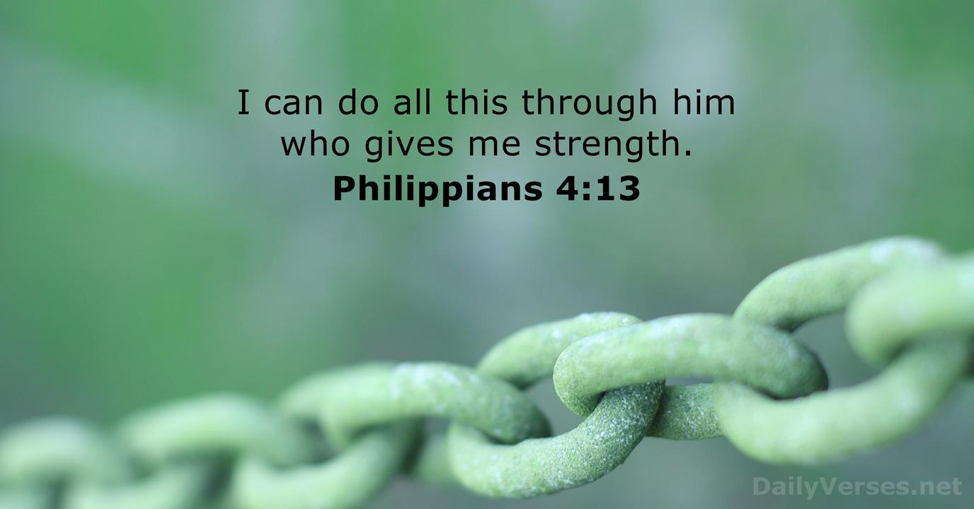 Philippians 4:13 - Bible verse of the day - DailyVerses.net