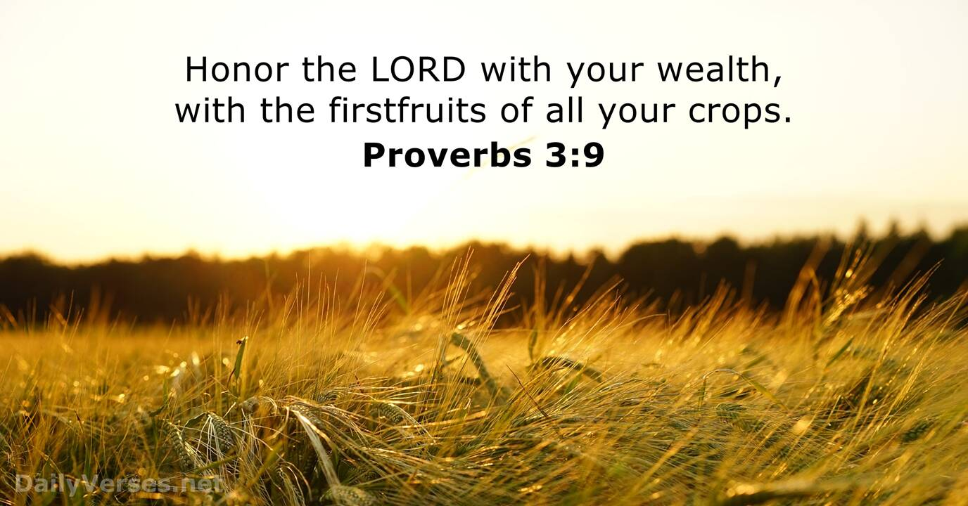 Proverbs 3:9 - Bible verse of the day - DailyVerses.net