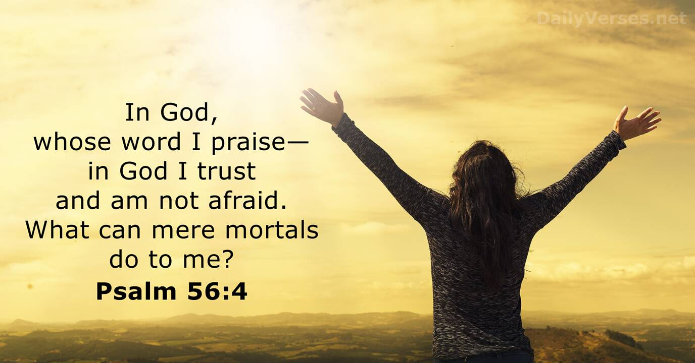 Psalm 56:4 - Bible verse of the day - DailyVerses.net