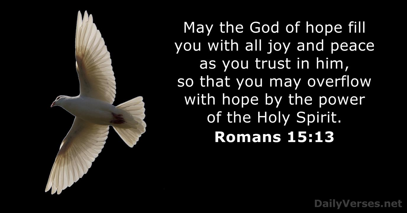 Romans 15:13 - Bible verse of the day - DailyVerses.net