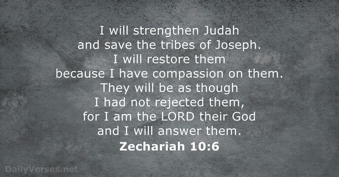 Zechariah 10:6
