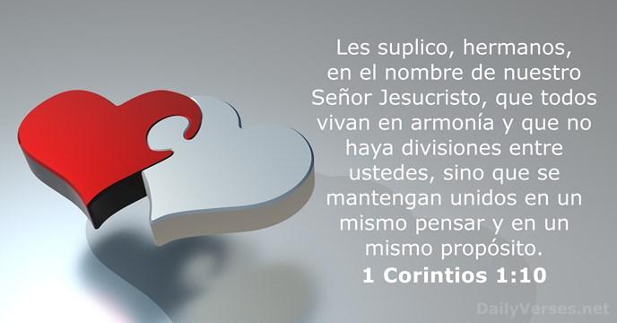 1 Corintios 1 10 Versículo De La Biblia Del Día