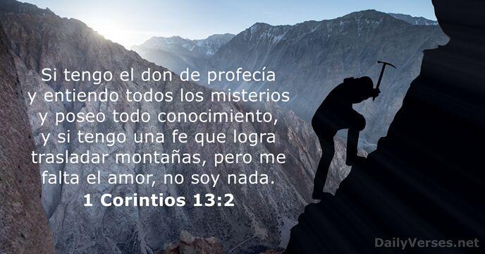 1 Corintios 13:2 - Versículo de la Biblia del día