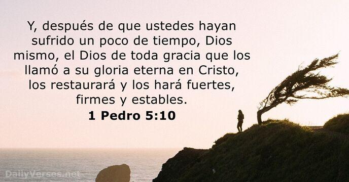 1 Pedro 5:10 - Versículo de la Biblia del día