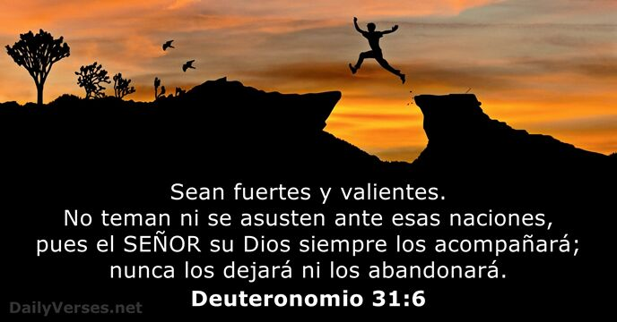 Deuteronomio 31:6