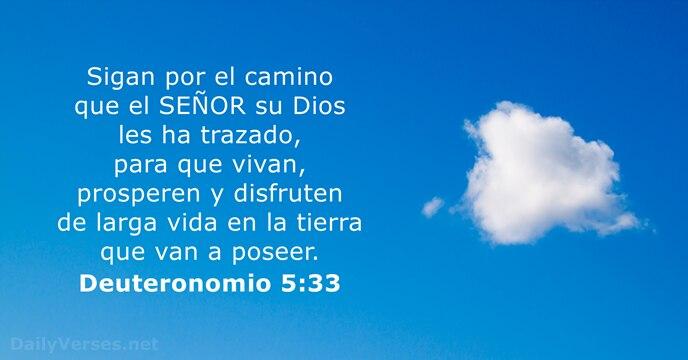 Deuteronomio 5:33 - Versículo de la Biblia del día
