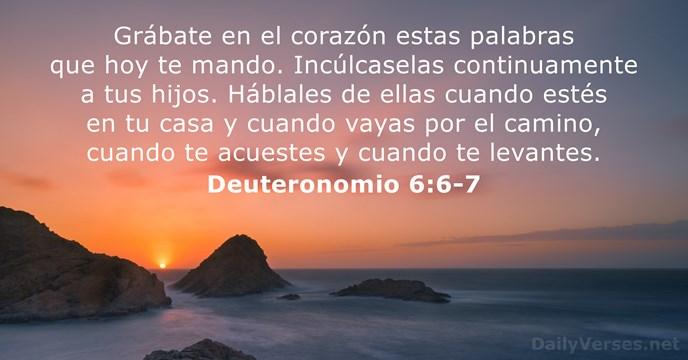 Deuteronomio 6:6-7