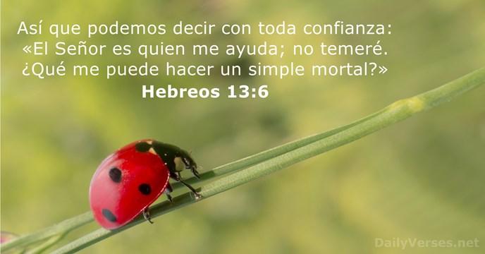 Hebreos 13:6