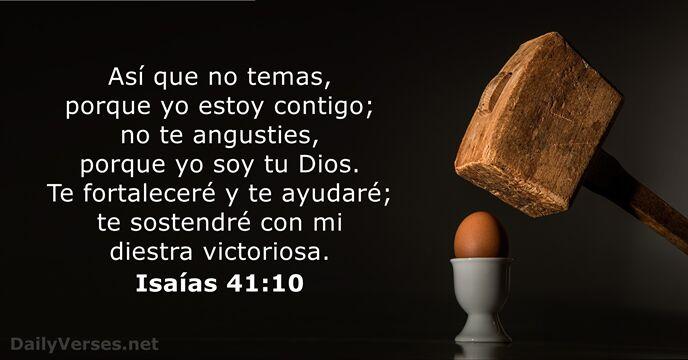 Isaías 41 10 Rvr60 Versículo De La Biblia Del Día