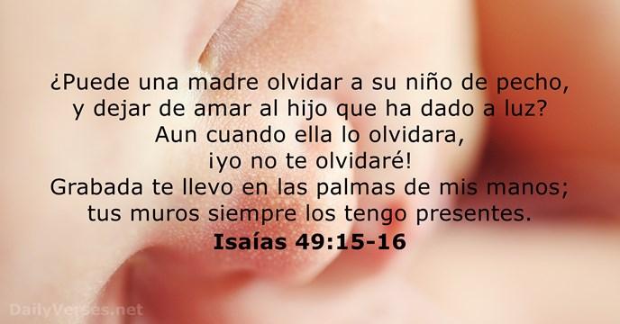 Isa as 49 15 16 vers culo de la biblia del d a - Leer la mano hijos ...