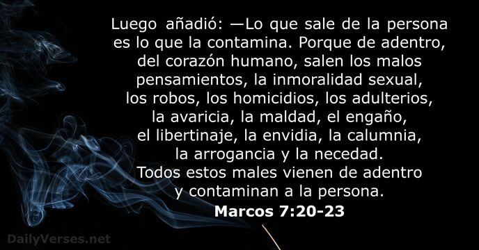 marcos 7:20-23