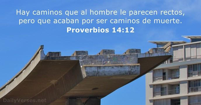 proverbios 14 12 vers culo de la biblia del d a. Black Bedroom Furniture Sets. Home Design Ideas