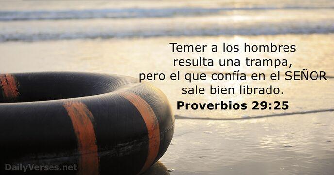 Proverbios 29:25