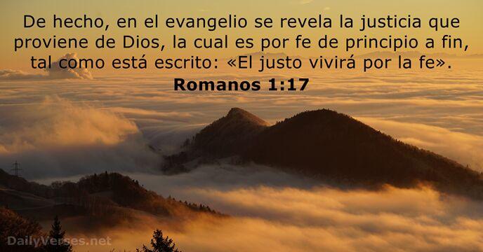 Romanos 1:17 - Versículo de la Biblia del día