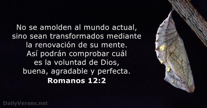 Romanos 12:2 - Versículo de la Biblia del día
