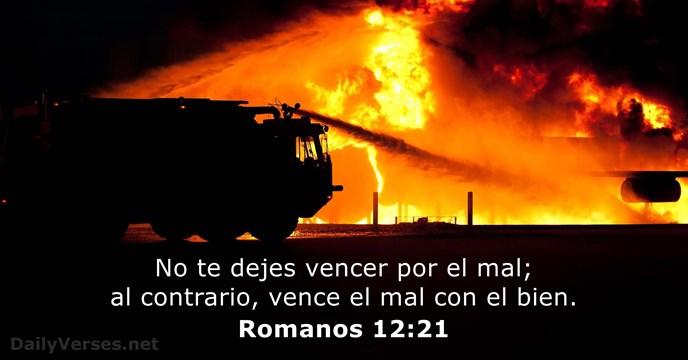 Romanos 12:21 - Versículo de la Biblia del día