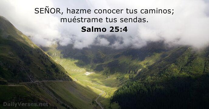 Salmos 25:4 - Versículo de la Biblia del día - DailyVerses.net