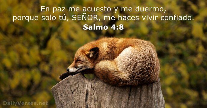 Salmos 4 8 reina valera 1995 vers culo de la biblia for En paz me acostare