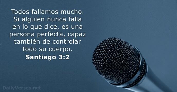 Santiago 3:2 - Versículo de la Biblia del día