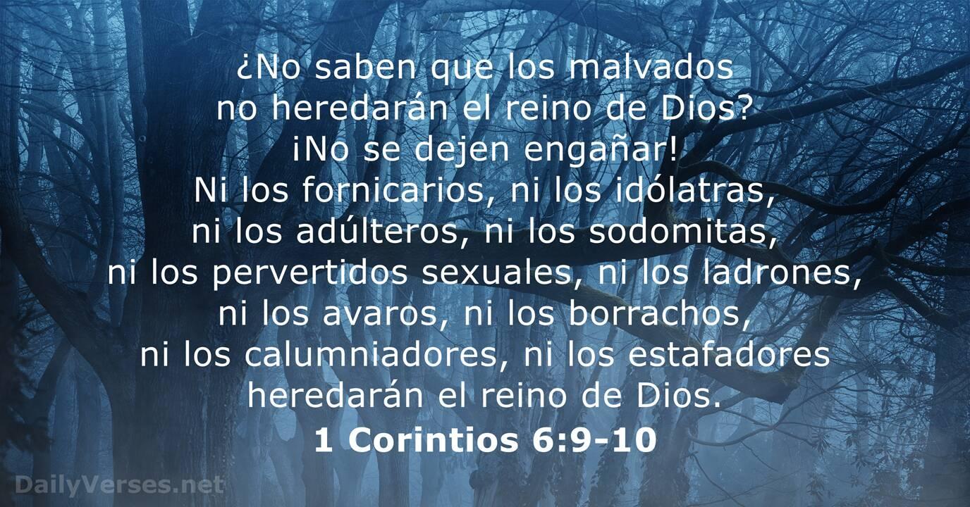 1 Corintios 6 9 10 Versículo De La Biblia Del Día Dailyverses Net