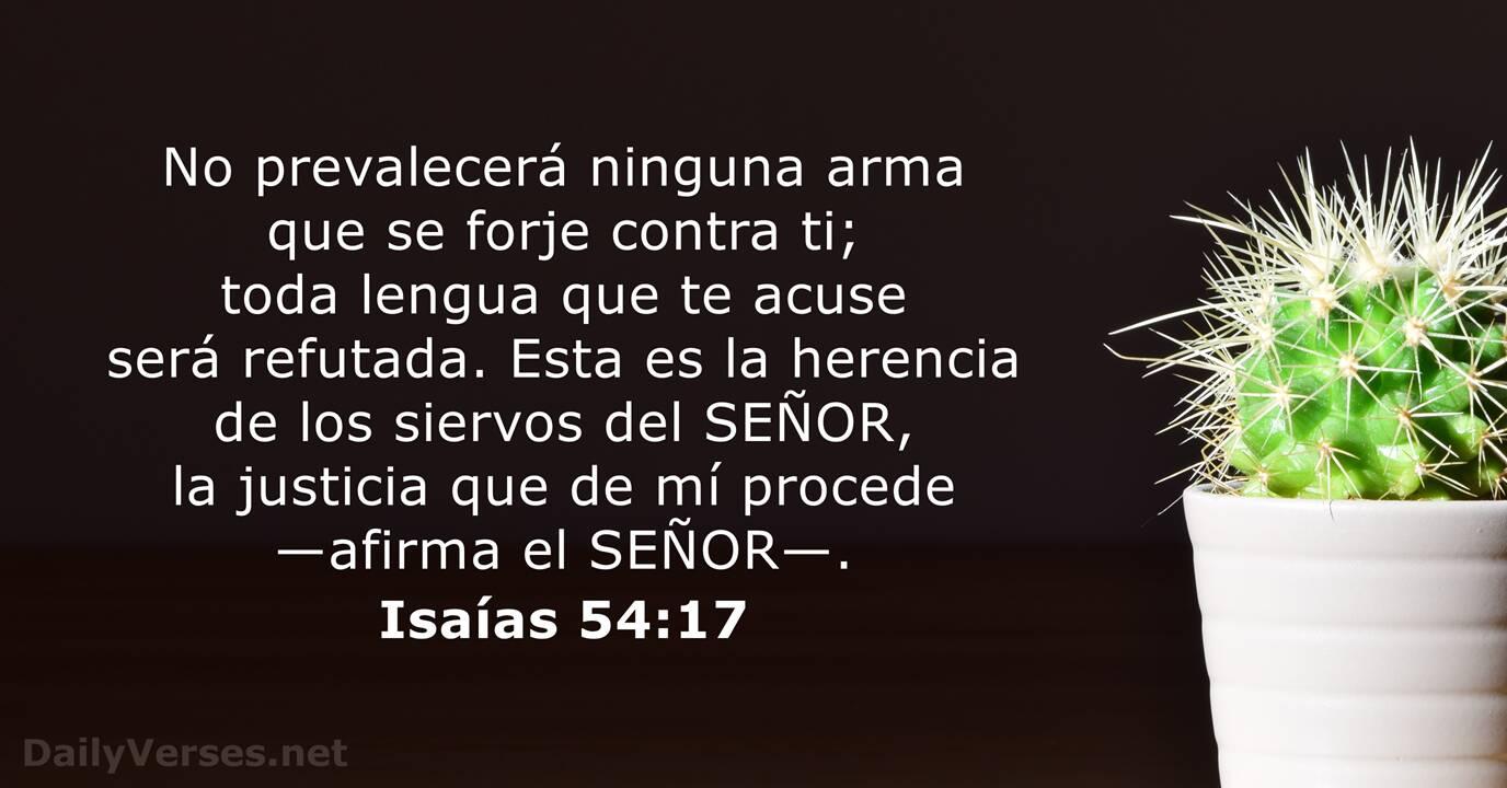 Isaías 54:17 - Versículo de la Biblia del día